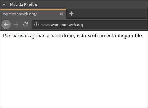 """""""Por causas ajenas a Vodafone, esta web no está disponible"""""""